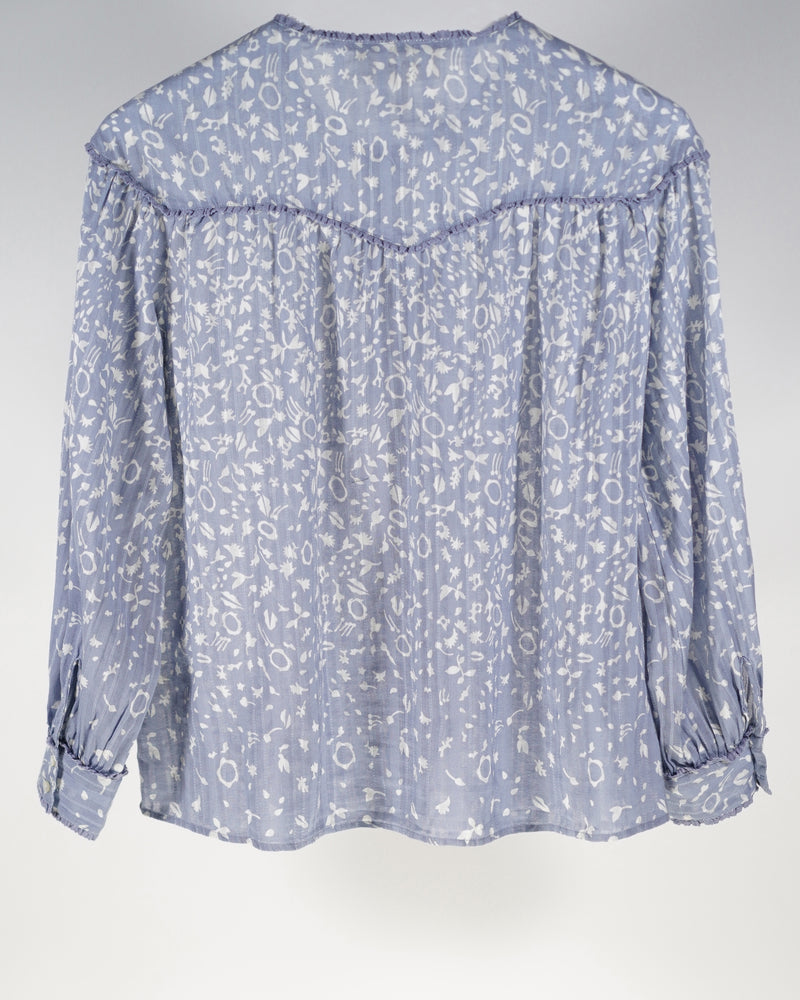 The Folk Top in Prairie Floral