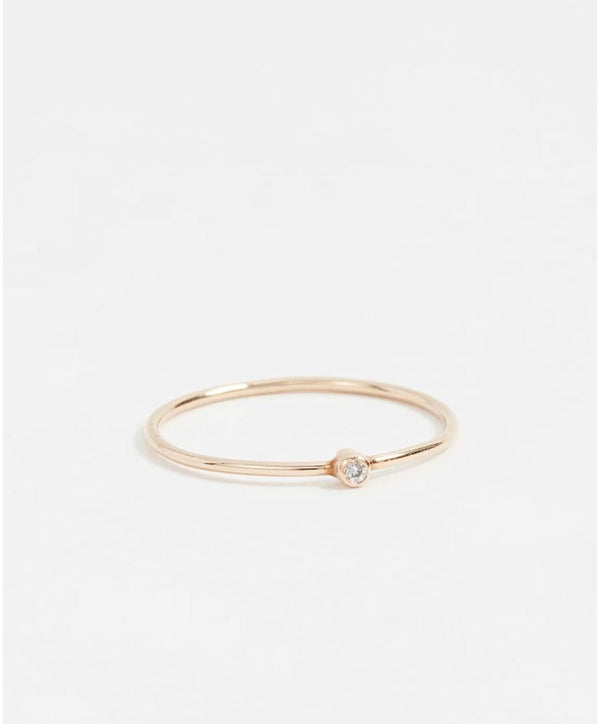 Stackable Ring With Diamond