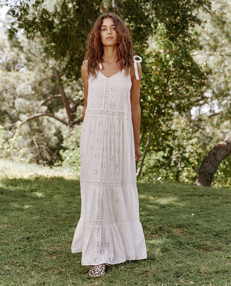 The Eyelet Grove Dress in True White