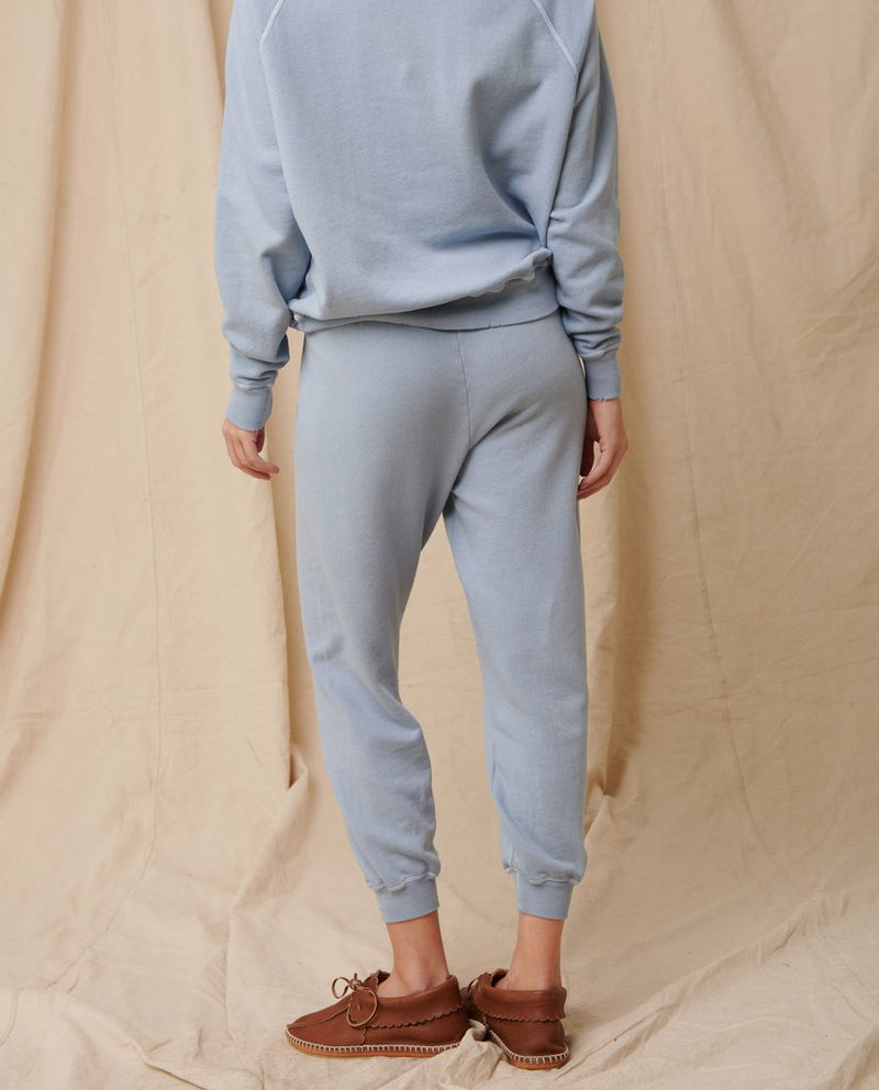 The cropped sweatpant in powder blue