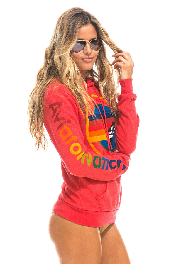 Pullover Hoodie in Neon Red