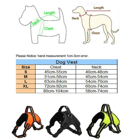 No Pull, Breathable, Reflective Dog Harness