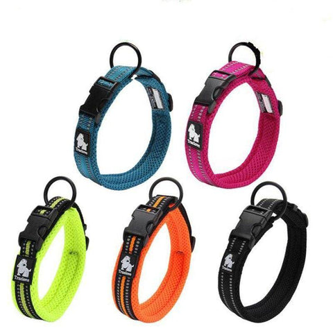 Adjustable Nylon Reflective Dog Collar