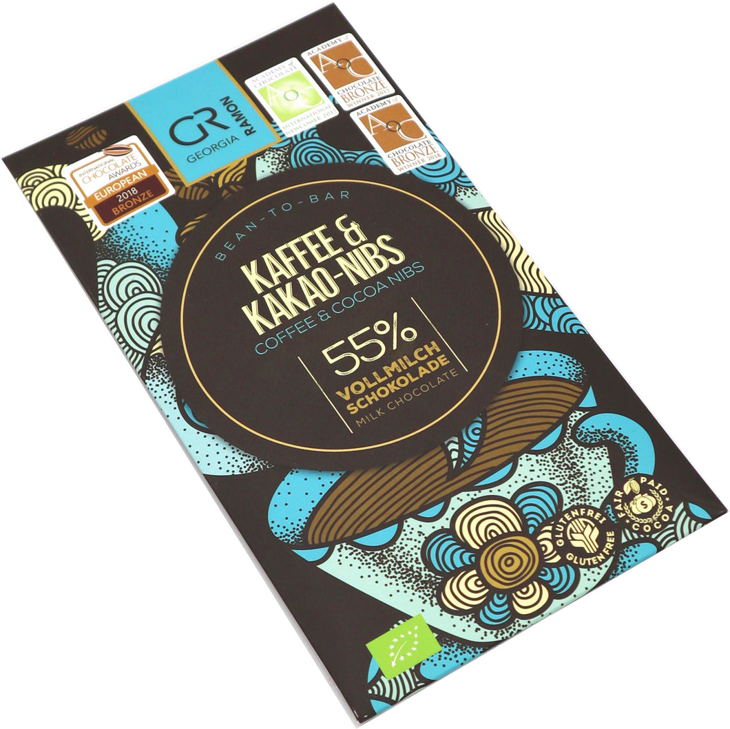 Georgia Ramon Milk chocolate with coffee and cocoa nibs
