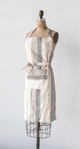 Woven Cotton Striped Apron