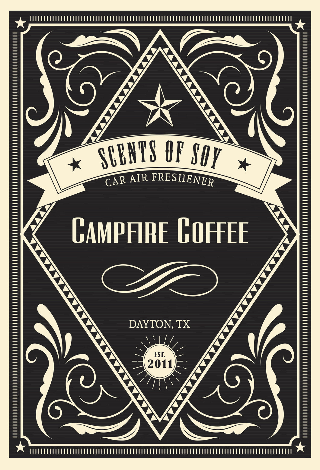 Campfire Coffee Rustic 2 Pack Car Air Freshener