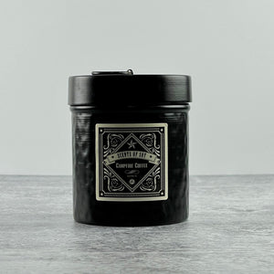 Campfire Coffee Black Hammered Metal Tin