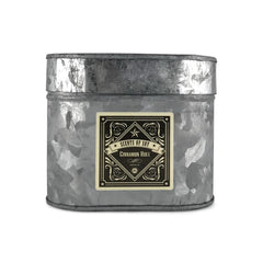 Cinnamon Roll Galvanized Oval Tin Soy Candle