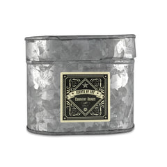 Country Roads Galvanized Oval Tin Soy Candle