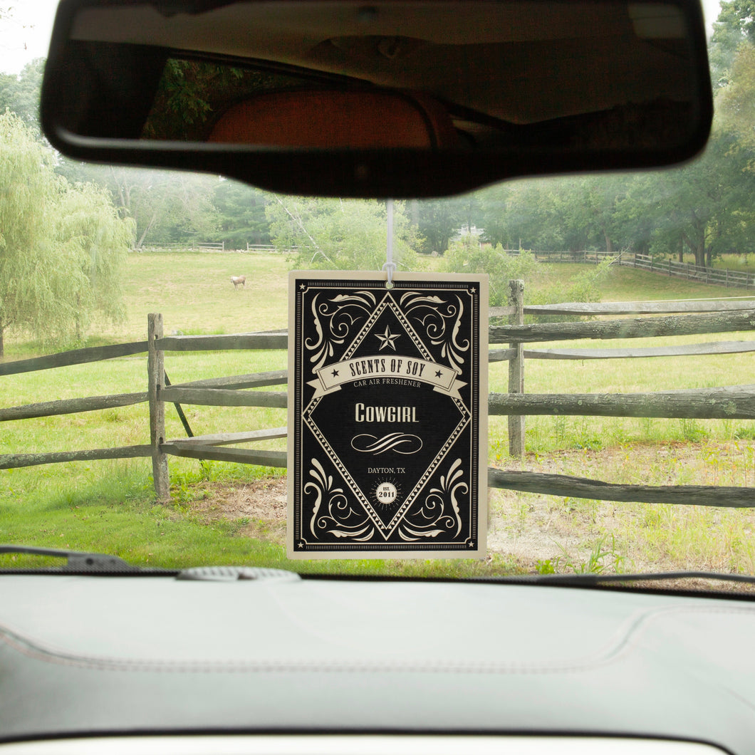 Cowgirl Rustic 2 Pack Car Air Freshener