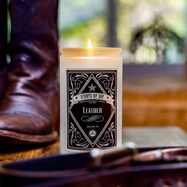 Leather Rustic Soy Candle