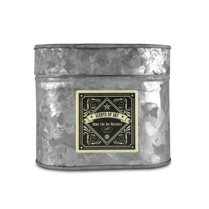 Home For The Holidays Galvanized Oval Tin Soy Candle