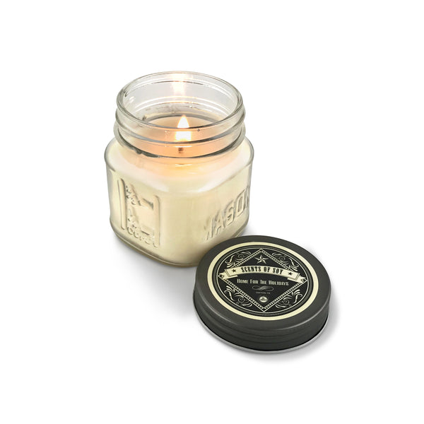 Home For The Holidays Mason Jar Soy Candle