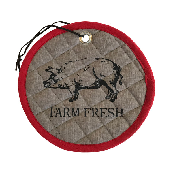 Farm Fresh Hot Pad With Pig
