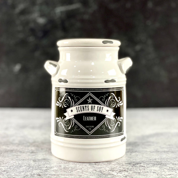 Leather Milk Jug Soy Candle