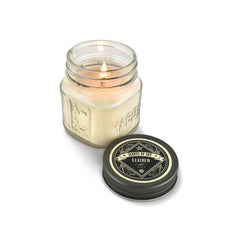 Leather Mason Jar Soy Candle