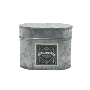 Morning Mimosa Galvanized Oval Tin Soy Candle