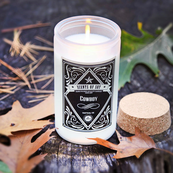 Cowboy Rustic Soy Candle