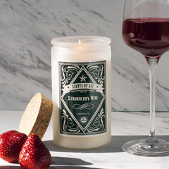 Strawberry Wine Rustic Soy Candle