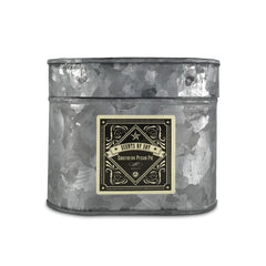 Southern Pecan Pie Galvanized Oval Tin Soy Candle