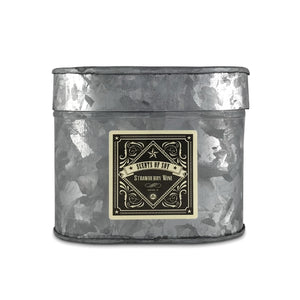 Strawberry Wine Galvanized Oval Tin Soy Candle