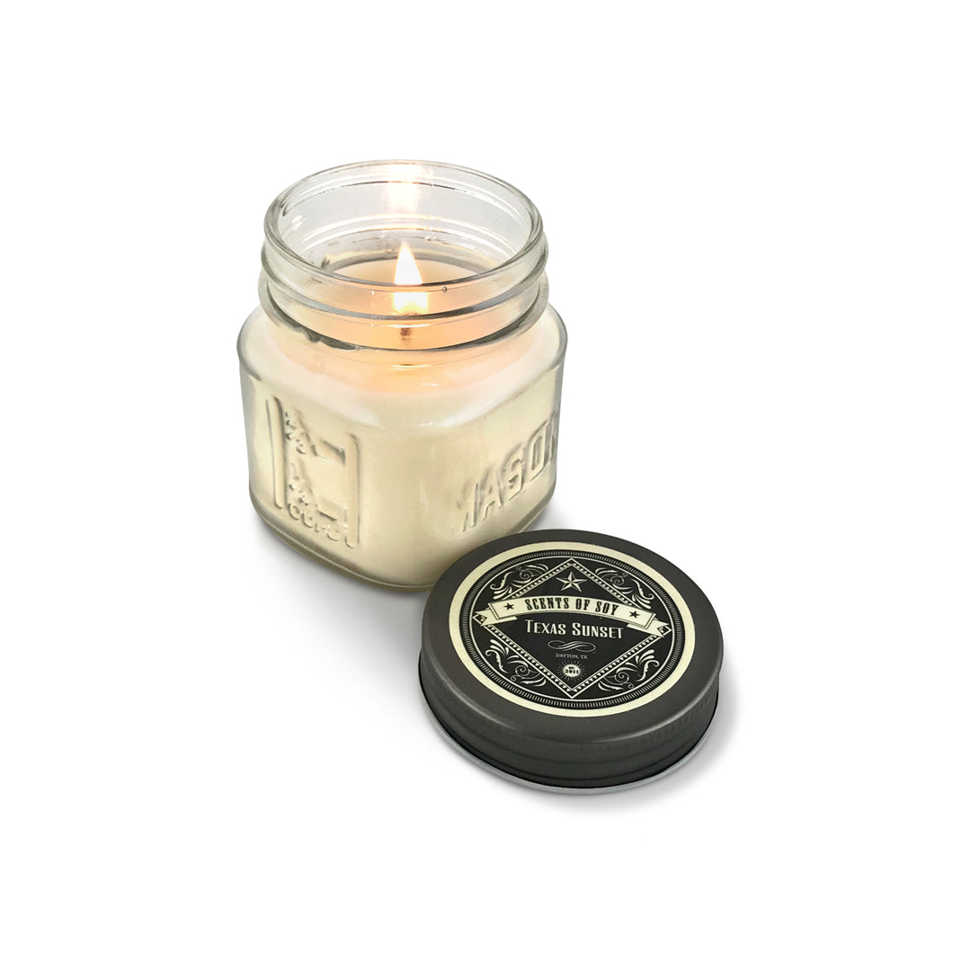 Texas Sunset Mason Jar Soy Candle