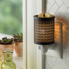 Chevron Metal Plug-In Warmer