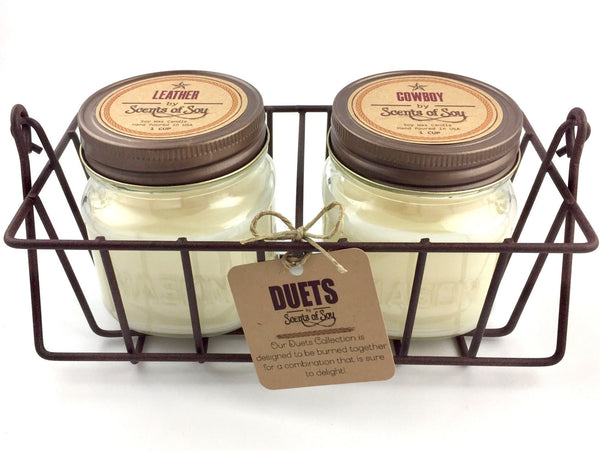 xDUETS Candle Set       Leather + Cowboy