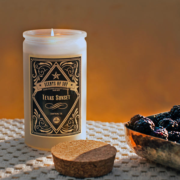 Texas Sunset Rustic Soy Candle
