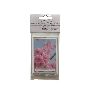 Japanese Cherry Blossom 2 Pack Car Air Freshener