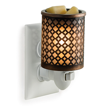Moroccan Metal Plug-In Electric Warmer