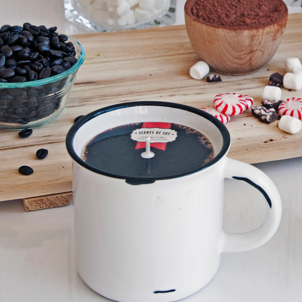 Campfire Coffee Mug Soy Candle
