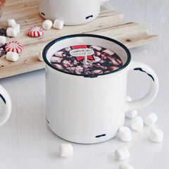 Peppermint Hot Chocolate Mug Candle
