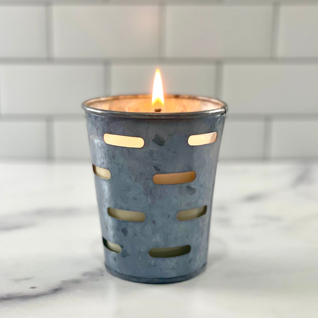 Rustic Lodge Olive Bucket Soy Candle