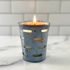Leather Olive Bucket Soy Candle