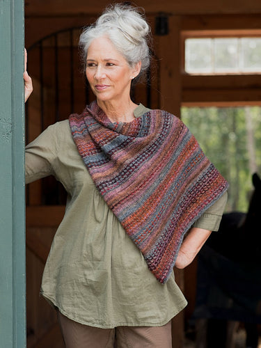 Dizzy Sheep - Berroco Broderie Shawl Kit _Broderie Shawl Kit