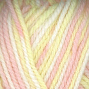Dizzy Sheep - Plymouth Encore Chunky Colorspun _ 7115, Peach, Yellow, White, Lot: 51984