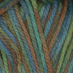 Dizzy Sheep - Plymouth Encore Chunky Colorspun _ 7126, Soft Blue Green Tan Print, Lot: 50382