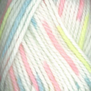 Dizzy Sheep - Plymouth Encore Chunky Colorspun _ 7133, White, Pink, Yellow, Blue, Lot: 42262