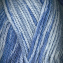 Load image into Gallery viewer, Dizzy Sheep - Plymouth Encore Chunky Colorspun _ 7201, White, Light Blue, Dark Blue, Lot: 56777