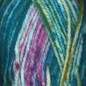 Dizzy Sheep - Plymouth Encore Chunky Colorspun _ 7203, Purple, Blue, Green, Ochre, Lot: 619383
