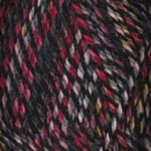 Dizzy Sheep - Plymouth Encore Worsted Colorspun _ 7811 Red Black lot 625063