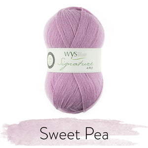 Dizzy Sheep - West Yorkshire Spinners Signature 4 Ply _ 0517, Sweet Pea, Lot: 0667
