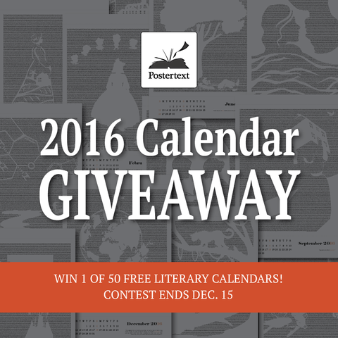 Literary Calendar Giveaway