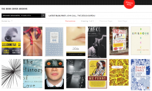 Book cover archive website