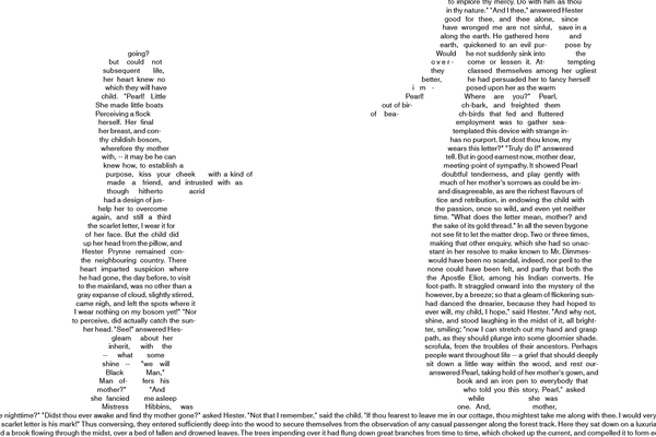 The Scarlet Letter Poster | Made with Text | Postertext
