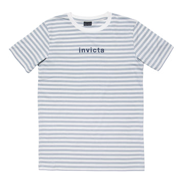Invicta Venture Stripe Tee, Blue and White