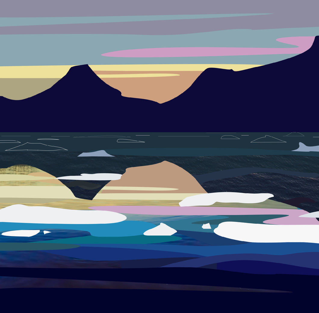 Tasilaq Fjord at Dusk II - Digital Print on Paper