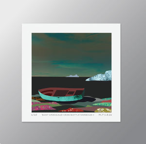 Boat Wreckage Near Battle Harbour II - Signed Limited Edition Print