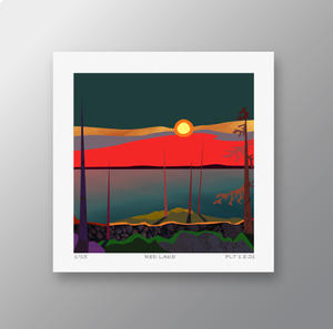Red Lake - Signed Limited Edition Print